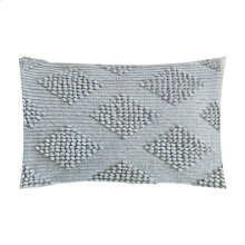 """Karina Woven Diamond Lumbar Pillow (21"""" X 13"""") - Light Grey"""