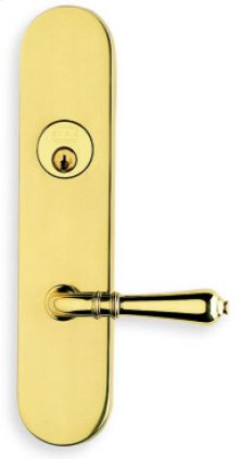 Exterior Traditional Deadbolt Entrance Lever Lockset in (Exterior Traditional Deadbolt Entrance Lever Lockset - Solid Brass )