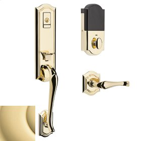 Non-Lacquered Brass Evolved Bethpage Lever Handleset