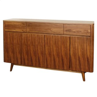 Milano Buffet 3 Drawers + 4 Doors, Walnut