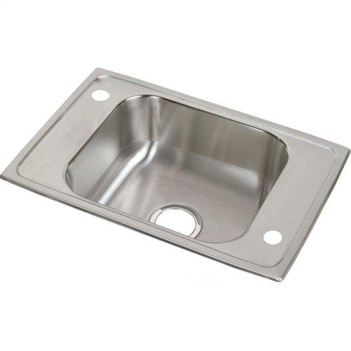 """Elkay Celebrity Stainless Steel 25"""" x 17"""" x 6-7/8"""", Single Bowl Drop-in Classroom Sink"""