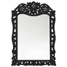 St. Agustine Mirror - Glossy Black
