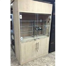 Custom Two Section Wine Cabinet - Scratch n Dent (CALL FOR FREIGHT QUOTE)