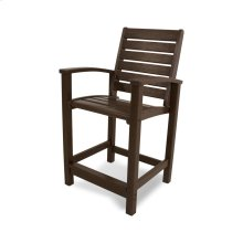 Mahogany Signature Counter Chair