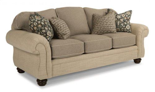 Bexley Two-Tone Fabric Sofa without Nailhead Trim
