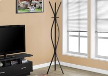 "COAT RACK - 72""H / BLACK METAL CONTEMPORARY STYLE"