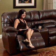 Reclining Sofa W/Table & Drawer Storage