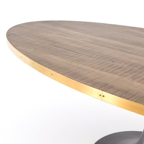 "Evans 98"" Oval Dining Table"