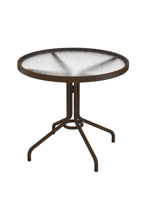 "Acrylic 30"" Round Dining Table"