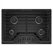 Whirlpool® 30-inch Gas Cooktop with EZ-2-Lift™ Hinged Cast-Iron Grates - Black Product Image