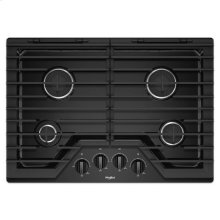 Whirlpool® 30-inch Gas Cooktop with EZ-2-Lift Hinged Cast-Iron Grates - Black