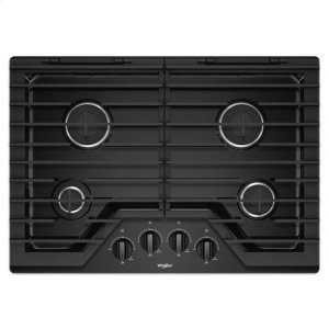 WHIRLPOOLWhirlpool(R) 30-inch Gas Cooktop with EZ-2-Lift(TM) Hinged Cast-Iron Grates - Black