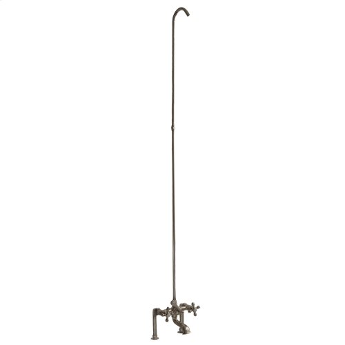 Tub/Shower Converto Unit - Elephant Spout, Cross Handles - Polished Nickel