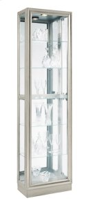 Side Entry 5 Shelf Curio Cabinet in Platinum Silver Product Image