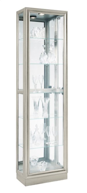Platinum Metallic Right Side Entry Curio
