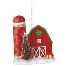Barn with Silo Ornament.