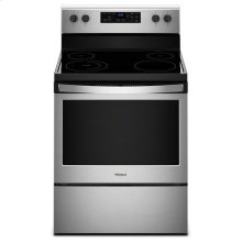 Whirlpool® 5.3 cu. ft. Freestanding Electric Range with Adjustable Self-Cleaning - Black-on-Stainless