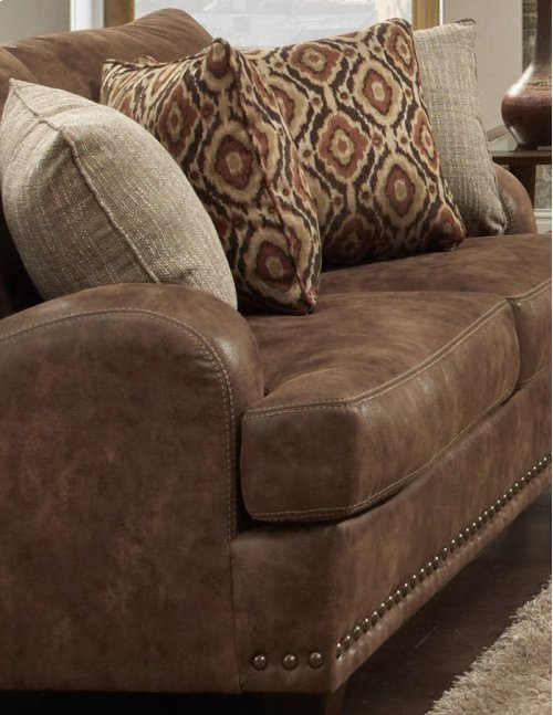 FRANKLIN 84888CH Indira Faux Leather Chair And A Half