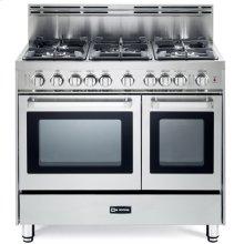 "DISPLAY MODEL Stainless Steel 36"" Gas Double Oven Range - 'N' Series"