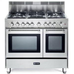 """VeronaStainless Steel 36"""" Gas Double Oven Range - 'N' Series"""