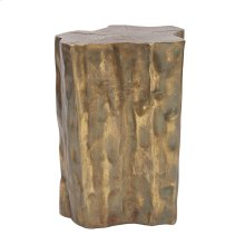 Antique Brass Faux Bois Stool / Accent Table
