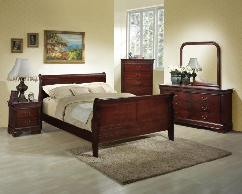 6-Piece Bedroom - 3 PC Bed, Dresser, Mirror, Chest