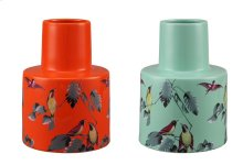 Spring Birds Vases Set Of 2