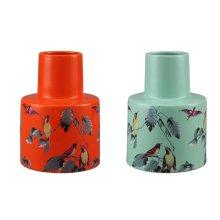 Spring Birds Vases Set Of 2