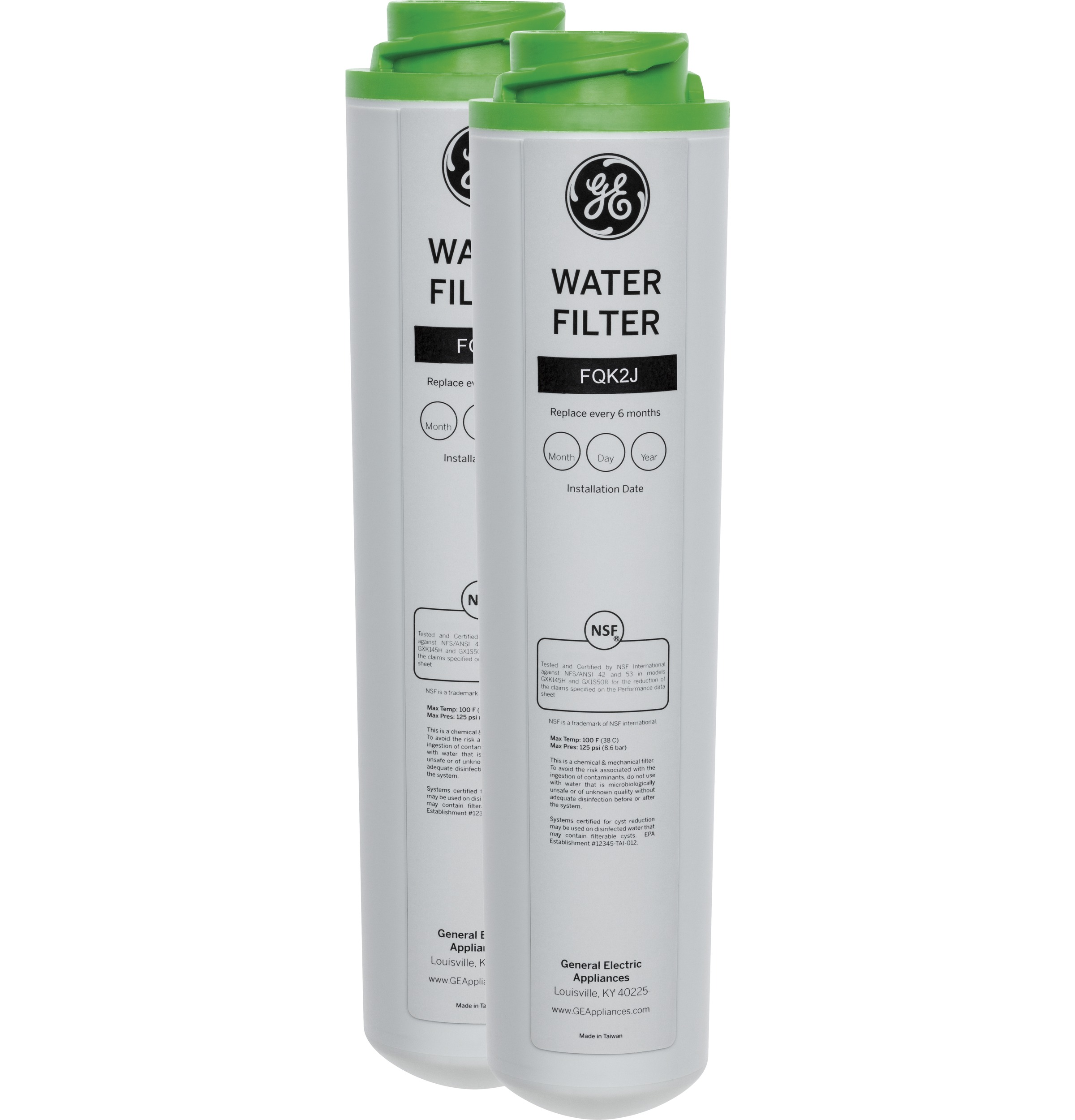 GEReplacement Water Filter - Dual Flow Under Sink System