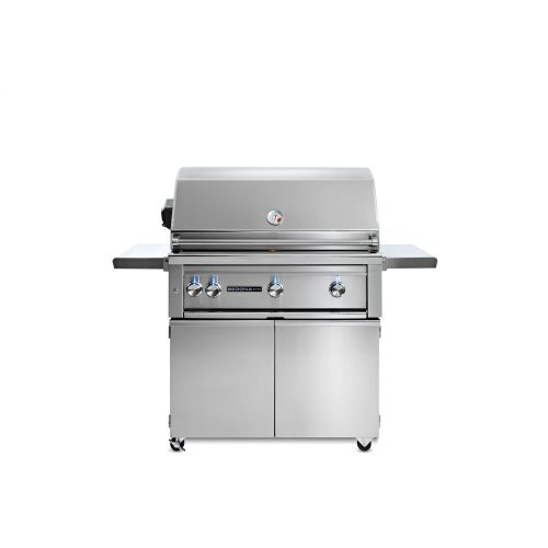 """36"""" Sedona by Lynx Freestanding Grill with 3 Stainless Steel Burners and Rotisserie, NG"""