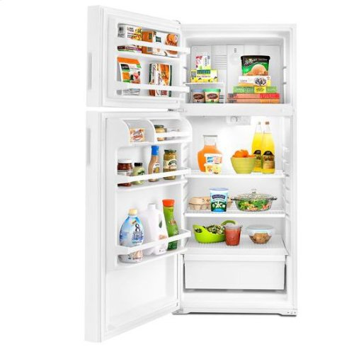 28-inch Wide Top-Freezer Refrigerator with Dairy Center - 14 cu. ft. - white