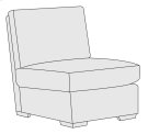 Orlando Armless Chair in Mocha (751) Product Image