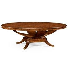 """96"""" Biedermeier Style Oval Dining Table"""