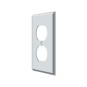 Switch Plate, Double Outlet - Polished Chrome