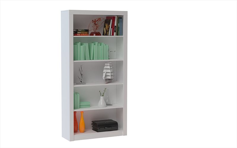 Olinda Bookcase 1.0 with 5 shelves in White