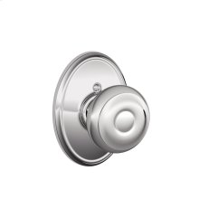 Georgian Knob with Wakefield trim Non-turning Lock - Bright Chrome