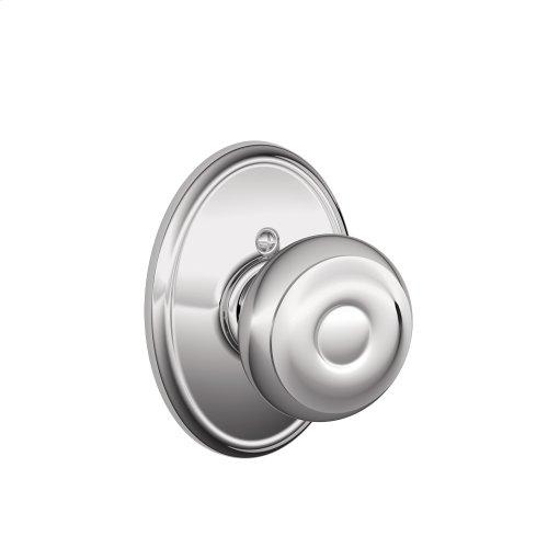 Georgian Knob with Wakefield trim Non-turning Lock - Bright Chrome