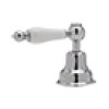 Polished Nickel Arcana 4-Hole Deck Mount Tub Filler & Handshower With Arcana Series Only Cross Handle