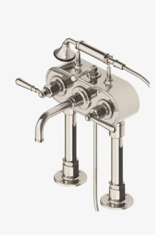Regulator Exposed Deck Mounted Tub Filler with Handshower and Metal Lever Handles STYLE: RGXT51