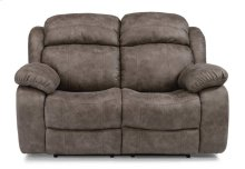 Como Fabric Power Reclining Loveseat with Power Headrests