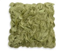 Petal Green Feather Toss Cushion 18x18