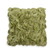 Petal Green Feather Toss Cushion 18x18