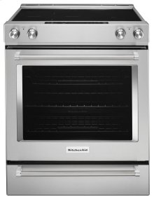 30-Inch 5-Element Electric Convection Slide-In Range with Baking Drawer - Stainless Steel