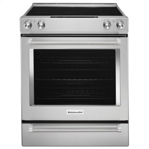30-Inch 5-Element Electric Convection Slide-In Range with Baking Drawer - Stainless Steel -