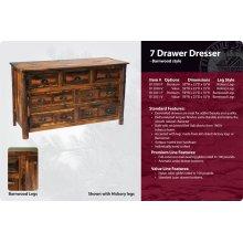 Seven Drawer Dresser - Barnwood
