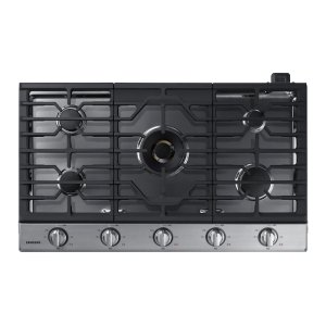 "Samsung Appliances36"" Gas Cooktop with 22K BTU Dual Power Burner in Stainless Steel"