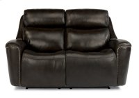 Mystic Leather Power Reclining Loveseat with Power Headrests Product Image