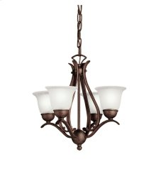 Dover 4 Light Mini Chandelier Tannery Bronze