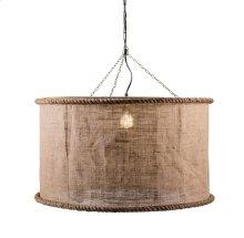 Linen Oversized Pendant Light