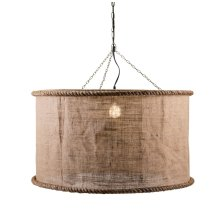 Linen Oversized Pendant Light